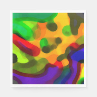 """Lava Lamp Daze"" Party Napkins Paper Napkins"
