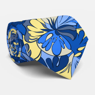 Lava Lamp Floral Retro Single-side Printed Tie