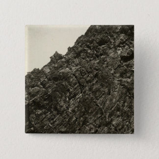 Lava, Meadow Creek Canyon, Nevada 15 Cm Square Badge