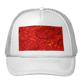 Lava Party abstract red pattern by Valxart.com Hat