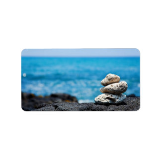 Lava Rock Coral Hawaii Ocean Tropical Beach Blank Address Label