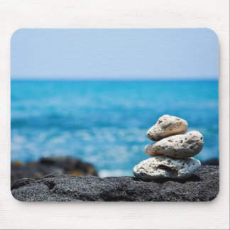 Lava Rock Coral Hawaii Ocean Tropical Beach Blank Mouse Mat