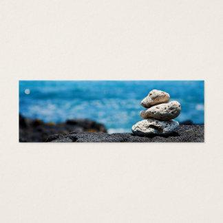 Lava Rock Coral Hawaii Ocean Tropical Beach Mini Business Card