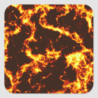 Lava Square Sticker