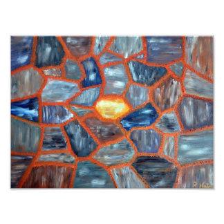 Lava Stone Art Photo