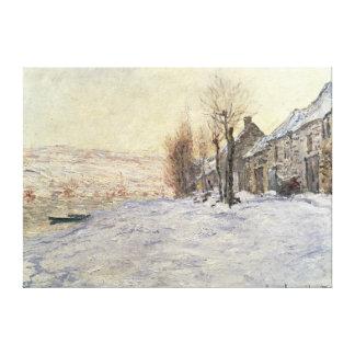 Lavacourt under Snow, c.1878-81 Canvas Print