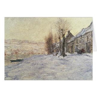 Lavacourt under Snow, c.1878-81 Card