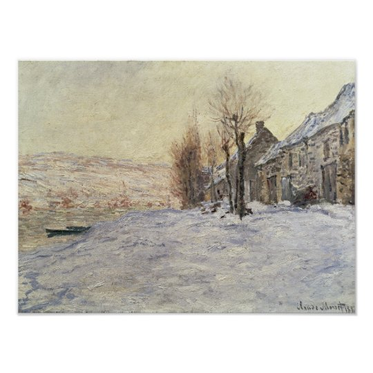 Lavacourt under Snow, c.1878-81 Poster