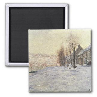Lavacourt under Snow, c.1878-81 Square Magnet