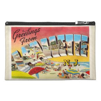 Lavallette New Jersey NJ Vintage Travel Postcard- Travel Accessory Bag