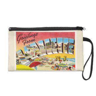 Lavallette New Jersey NJ Vintage Travel Postcard- Wristlet
