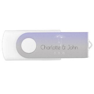 Lavanda Purple Gray Ombre Dandelion Thank You Gift USB Flash Drive