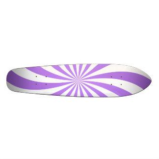 Lavander spiral design skate board
