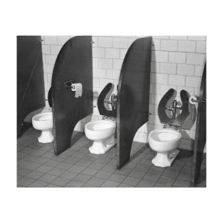 Lavatory Facilities, 1943 Stretched Canvas Print