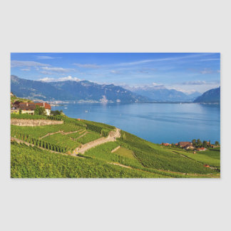 Lavaux region, Vaud, HDR Rectangular Sticker