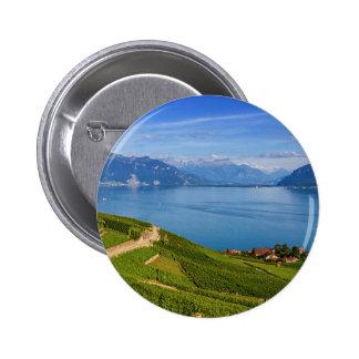 Lavaux region, Vaud, Switzerland 6 Cm Round Badge