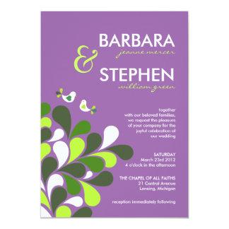 Lavendar and Lime Green Wedding Invitations