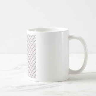 Lavendar Blue Stripes Basic White Mug