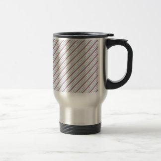 Lavendar Blue Stripes Stainless Steel Travel Mug