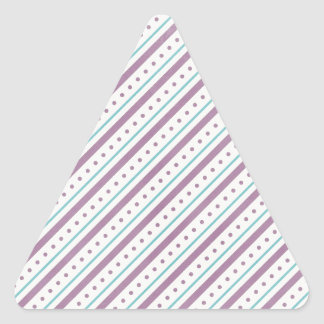 Lavendar Blue Stripes Triangle Sticker