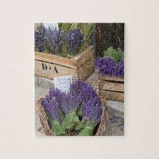 Lavendar for sale, Provence, France Jigsaw Puzzle