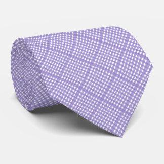 Lavendar Lace Gingham Tie
