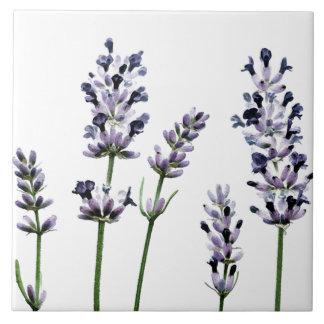Lavendar | Purple Floral Flowers Pastel Large Square Tile