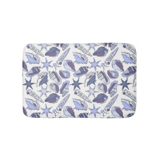 Lavendar Seashells Bath Mat