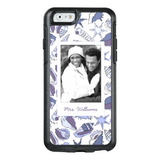 Lavendar Seashells | Your Photo & Name OtterBox iPhone 6/6s Case