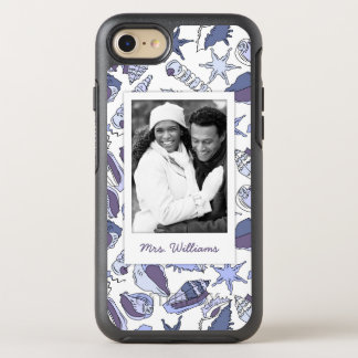Lavendar Seashells | Your Photo & Name OtterBox Symmetry iPhone 8/7 Case