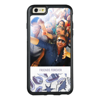 Lavendar Seashells | Your Photo & Text OtterBox iPhone 6/6s Plus Case