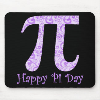 Lavendar Swirls Pi Day Tees and Gifts Mouse Mat