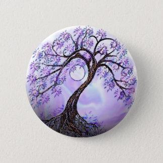 Lavendar Tree of Life 6 Cm Round Badge