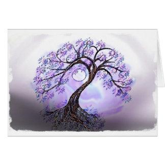 Lavendar Tree of Life Card