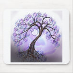 Lavendar Tree of Life Mouse Pads