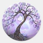 Lavendar Tree of Life Stickers