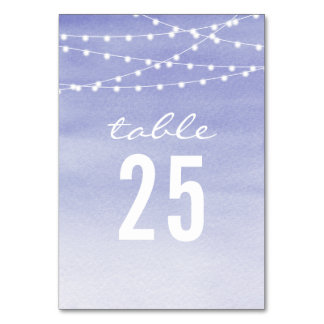 Lavendar Watercolor String Lights Card