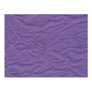 Lavendar Wrinkled Paper Texture Postcard