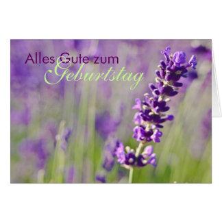 Lavendel • Geburtstagskarte Greeting Card