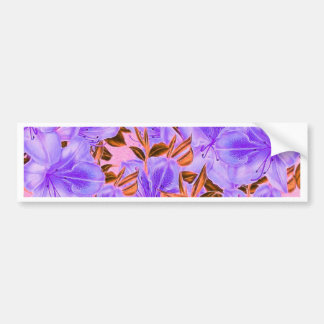Lavender Abstract Flowers Bumper Sticker