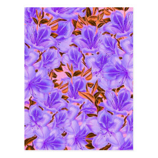 Lavender Abstract Flowers Postcard