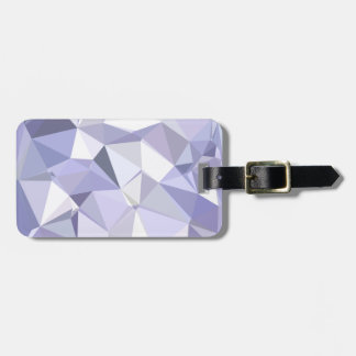 Lavender Abstract Low Polygon Background Bag Tag
