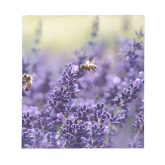 Lavender and Bees Notepad