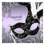 Lavender and Black Mask Masquerade Party