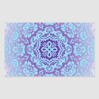 Lavender and Blue Ornate Pattern Sticker