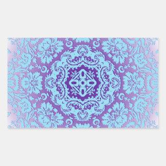 Lavender and Blue Ornate Pattern Sticker