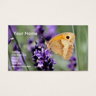Lavender and Butterfly Business Card