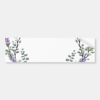 Lavender  and Eucalyptus Bumper Sticker