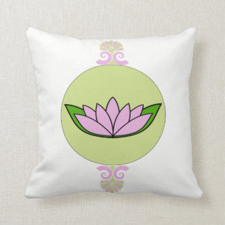 Lavender and green  lotus flower cushion