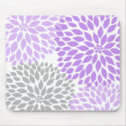 Lavender and grey dahlia desk office accessory mouse mat